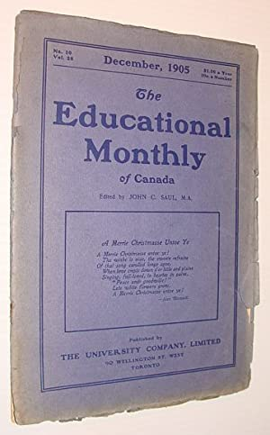 The Educational Monthly of Canada, December 1905, No. 10, Vol. 28