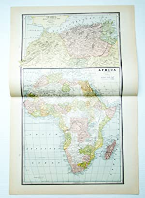 1889 Color Map of Australia and Tasmania
