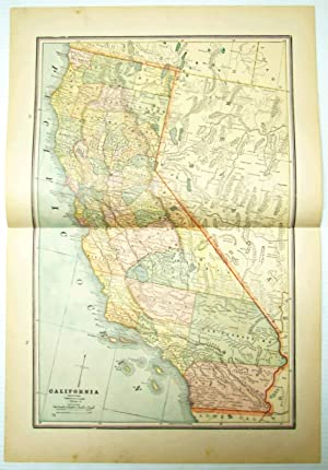 1889 Color Map of the State of California