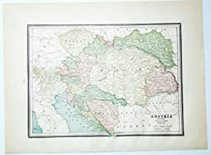 1889 Color Map of Austria