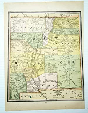 1889 Color Map of the State of New Mexico