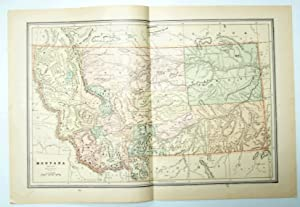 1889 Color Map of the State of Montana
