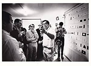 Collection of four original photographs of Robert Breer and stills from several of his animated f...