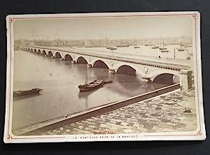 France, Bordeaux, Le pont vue prise de: Bordeaux - Photographie