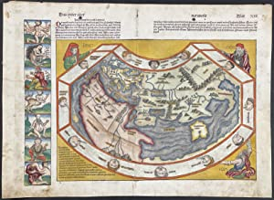 Map of the World published 1493 - Before the Discovery of America, Last View of the Old World (Da...