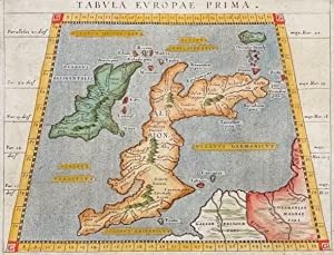 Map of the British Isles (United Kingdom, Great Britain, England, Scotland, Ireland) / Verso: Spa...