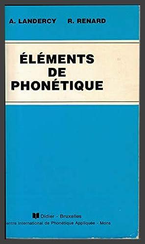 Eléments de phonétique