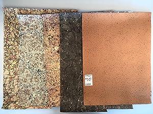 5 verschiedene handgefertigte Bogen Buntpapier 47-50 x: Buntpapier. - -