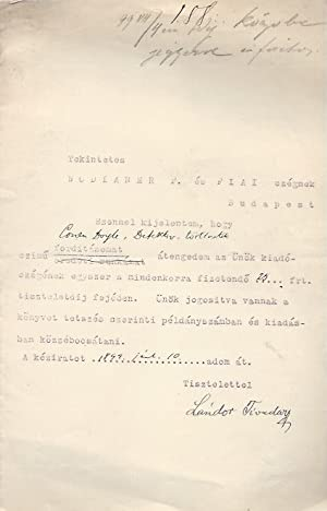 Contract for Arthur Conan Doyle translations TLS