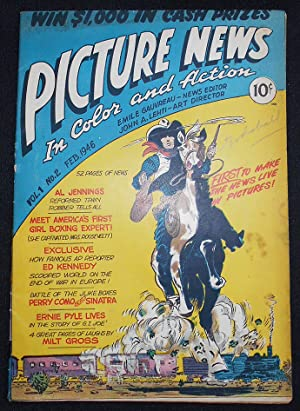 Picture News In Color and Action -- Vol. 1 No. 2 Feb. 1946