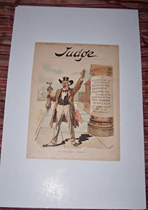 "Congressman Holman -- ""I Object"" [Cover illustration lithograph from JUDGE magazine] A Moment con..."