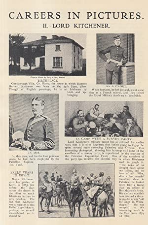 Lord Kitchener (his careers in pictures). An original article from the Strand Magazine, 1911.