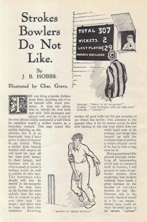 Strokes Bowlers Do Not Like (when playing cricket). An original article from the Strand Magazine,...