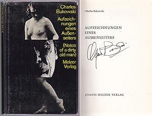 Aufzeichnungen eines Aussenseiters. Signed by the author: Bukowski, Charles