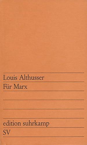 Für Marx.: Althusser, Louis: