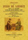 Análisis del juego del ajedrez: Filidor, A. D.