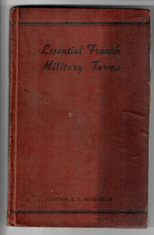 Essential French Military Terms; English-French