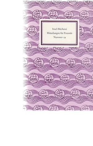 Insel-Bücherei. Mitteilungen für Freunde. Nummer 29. Herbst: Matuschek, Oliver (u.a.):