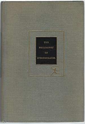 THE PHILOSOPHY OF SCHOPENHAUER: Edman, Irwin, ed