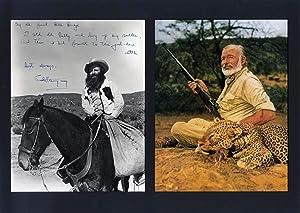 Ernest Hemingway autograph   Signed vintage photograph: Hemingway, Ernest