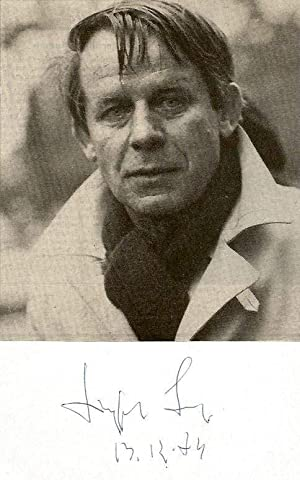 Siegfried Lenz autograph | Signed card with: Lenz, Siegfried
