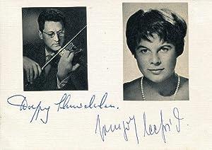 Wolfgang & Irmgard Schneiderhan & Seefried autograph | Signed card: Schneiderhan, Wolfgang ...