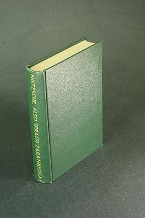 Also Sprach Zarathustra. Ein Buch für alle: Nietzsche, Friedrich, 1844-1900