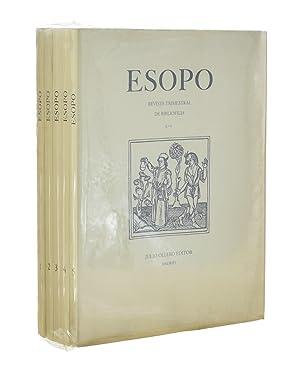 ESOPO. REVISTA TRIMESTRAL DE BIBILIOFILIA, 1-2-3-4-5 (COMPLETA): VV. AA.