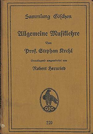 Allgemeine Musiklehre: Stephan Krehl