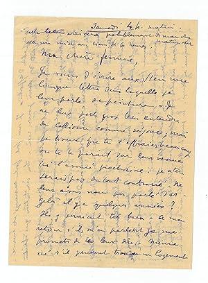"Autograph letter signed ""Henri"".: Matisse, Henri, French"
