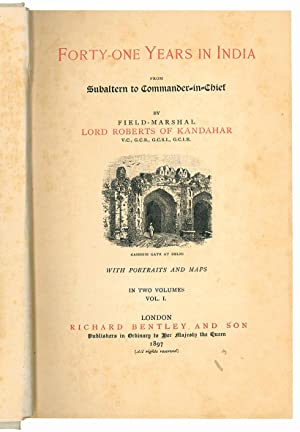 Seller image for Forty-one years in India from subaltern to commander in chief. With portraits and maps. In two volumes. Vol. I (-II). for sale by Libreria Alberto Govi di F. Govi Sas
