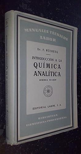 Introducción a la química analítica: RUSBERG, F.: