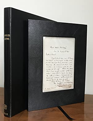 Early autograph letter signed 1841 to the: Dickens, Charles