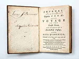 A Journal of Captain Cook's Last Voyage: COOK, James -