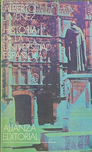 Historia de la universidad española: Jiménez Fraud, Alberto