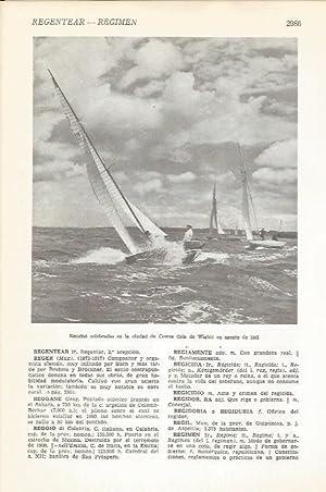 Imagen del vendedor de LAMINA 51493: Regatas de Cowes en 1951 a la venta por EL BOLETIN