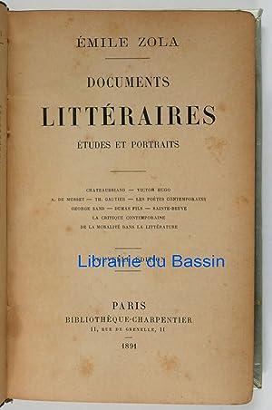 Documents littéraires Etudes et portraits: Emile Zola