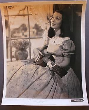 Fotografia d'epoca cinema Loretta Young sul set