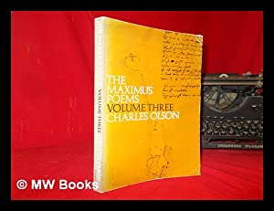 Immagine del venditore per The Maximus poems Vol 3. / Charles Olson venduto da MW Books