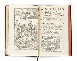 La secchia rapita poema eroicomico di Alessandro: TASSONI, Alessandro (1565-1635)