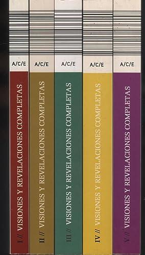 Seller image for VISIONES Y REVELACIONES COMPLETAS: SEGÚN LAS ANOTACIONES DE CLEMENTE BRENTANO, BERNARDO E. OVERBERG Y GUILLERMO WESENER. 5 Volúmenes. Completo. Col. Beata Ana Catalina Emmerick for sale by Hijazo Libros