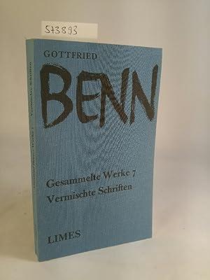 Gesammelte Werke in 8 Bänden. Band 7: Benn, Gottfried: