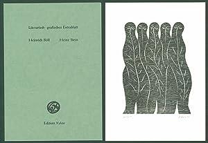 Bild des Verkäufers für Literarisch-grafisches Extrablatt. [1 signierter Original-Holzschnitt.] zum Verkauf von Antiquariat Lenzen