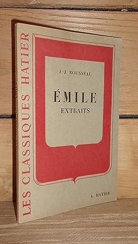 Image du vendeur pour EMILE : Extraits Présentés et Annotés par Pierre Grosclaude mis en vente par Planet'book