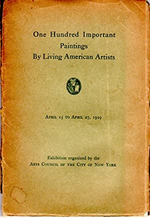 Seller image for One Hundred Important Paintings by Living American Artists for sale by PERIPLUS LINE LLC