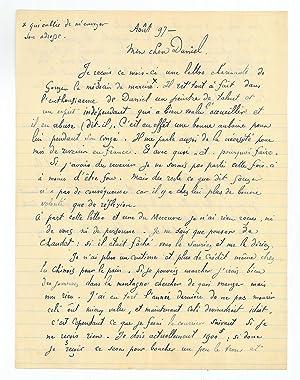 "Autograph letter signed ""Paul Gauguin"".: Gauguin, Paul, French"