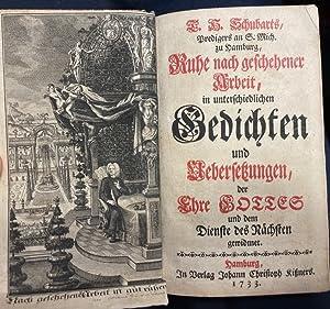 T. H. Schubarts, Predigers an S. Mich.: Schubart, Tobias Henrich.