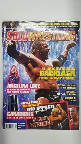 Imagen del vendedor de Revista lucha libre: Solowrestling numero 3, mayo 2008. Especial Ric Flair: el retiro, Entrevista a Angeline Love a la venta por El Boletin