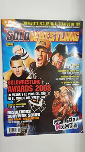 Imagen del vendedor de Revista lucha libre: Solowrestling numero 11 mes de enero 2009. Incluye poster Wrestle Toons. Suplemento especila entrevista al Team 3D de TNA a la venta por El Boletin