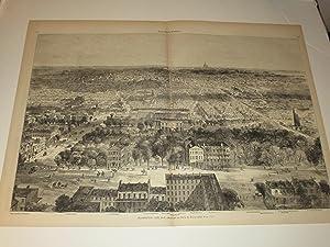 "1869 Harper's Weekly Engraving of ""Washington City,: Theo. R. Davis"